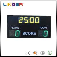 Quality Outdoor 10'' 254mm Digit Green / Yellow Electronic Soccer Scoreboard for sale
