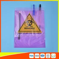 Quality Medical / Laboratory Specimen Transport Bags Plastic Resealable With Document Pouch for sale