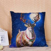Quality Linen / Cotton Pillow Cushion Covers With Printed Santa Claus Elk Pattern for sale