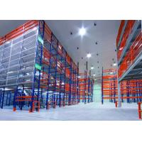 Buy Multi - Tiered Mezzanine Floor Racking System , High Density Adjustable Heavy Duty Metal Shelving at wholesale prices