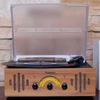 China 3-in-1 Turntable Player/Phonograph with AM/FM Radio and Cassette Recorder/Player Functions on sale