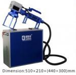 Quality Handle Fiber Laser Engraving Machine Small  /  Convenient Laser Marking Machine for sale
