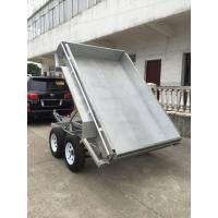 China Galvanised Hydraulic Tipper Trailer / 8 X 5 Tandem Trailer  2 Axle on sale