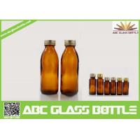 Quality 130ml Competitive Price Amber Syrup Glass Bottle for sale