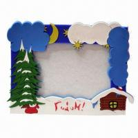 Quality Picture Frame, Made of Silicone for Promotional Gift, Customized Designs/Sizes/Colors Accepted for sale