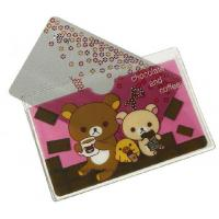 Quality Cartoon Printing Plastic Credit Card Holder Transparent Frosted Travel Card Wallet for sale