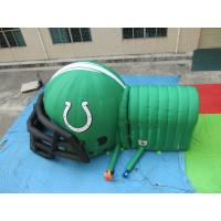 Quality customized printed inflatable football helmet tunnel,Inflatable Football Helmet Tunnel for sale
