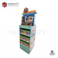 China floor standing cardboard retail display for foods on sale
