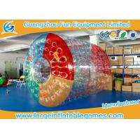 Quality PVC Inflatable Water Roller Ball Inflatable Hamster Wheel For Water Pool for sale
