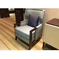 Quality Elegant Wooden Style Hotel Room Chairs High Density Foam Environment - Friendly for sale