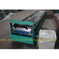 Quality Corrugated Roof Wall Cladding Cold Roll Forming Machine With PLC System 0.3mm - 0.8mm for sale