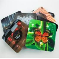 Quality 2020 fashion christmas 3D Lenticular greeting cards,glitter printing cards 3D lenticular postcard for sale
