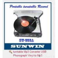 Quality Turntable Mp3 Converter Usb Phonograph Vinyl To Mp3 for sale