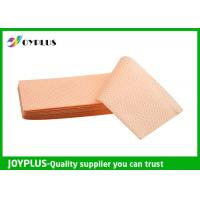 Quality Yellow Green Color Non Woven Cloth , Window Cleaning Cloths Extra Absorbent for sale