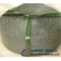 Quality 60 Openings in 150mm Width, Metal Knitted Wire Mesh With 0.1-0.3mm Wire for sale