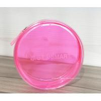 Quality Round Pink Clear Plastic Toiletry Bags For Women Heat-Sealed Welded for sale