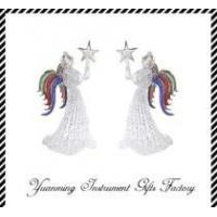 Buy colored christmas decoration glass angel at wholesale prices
