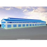 High Strength Prefabricated Steel Warehouse JIS SS400 Material Flexibility for sale
