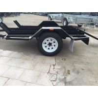 Quality Solid Axle Motorcycle Transport Trailer , 8x6 Tandem Axle Flatbed Trailer for sale