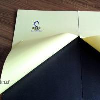 China 1mm Double Side Self-Adhesive PVC Sheet for Photo Album white  and black color on sale