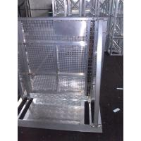 Buy Strong Crowd Safety Barriers Silver Color Rapid Assembly For Concert Show at wholesale prices
