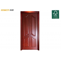 China 4 Panel PU Painting Hinged Pinewood Wooden Interior Doors on sale