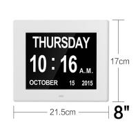Quality 8Inch IPS 1024x768 Digita Calendar Day Clock Extra Large Impaired Vision for sale
