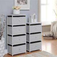 Quality Daily Necessities Bedroom Storage Units , CE Storage Shelving Units With Fabric Drawer for sale