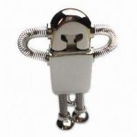 Quality USB Flash Disk, Made of Stainless Steel with Laser Engraved Logos for sale