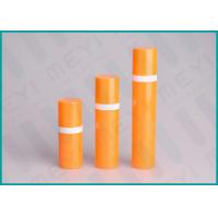 Quality Orange PP Airless 15ml 50ml 30ml Pump Bottle Cylinder Shape For Cosmetics for sale