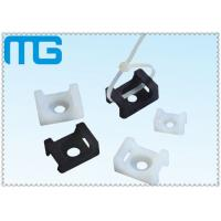 Quality white /balck Saddle Type tie mounts with material of PA66, CE approval ,1000PCS /BAG Cable Accessories for sale