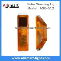 Quality Amber Solar Road Guardrail Warning Light Construction Column Stroboscopic Lamp Stormlight Stack Taillight Obstacle Lamp for sale