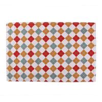 Quality 40 * 35cm Dining Room Table Placemats Christmas Pattern Printed Square Shape for sale