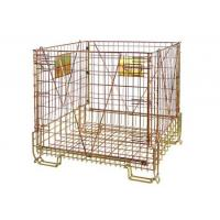 Buy cheap Stackable Steel Galvanized Metal Wire Mesh Container For Storage from wholesalers