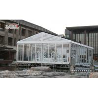 China 500 people clear tent with Transparent PVC Roof Cover for sale