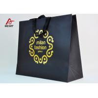 Quality Cotton Ribbon Personalized Wine Bags Paper Material , Custom Business Shopping Bags for sale