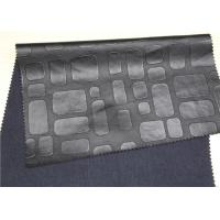 Quality Black Embossed Leather Fabric For Handbags Anti - Mildew Waterproof for sale