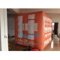 Quality Orange PVC 3D Cube Balloon Helium Filled Customized For Outdoor Decoration for sale