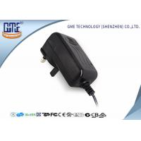 Quality Black Wall Mount AC To DC Power Adapter 24V 1A Intertek Flame retardant PC for sale
