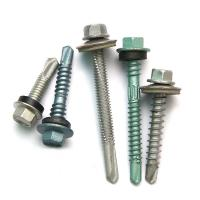 HDG Electroplating Hex Head Stainless Steel 410 Self Drilling Screws Zinc Plated Sandblast Electric