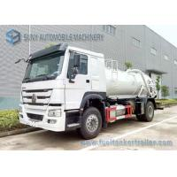 China SINOTRUK HOWO Sewage Suction Tanker 4X2 Truck 12000L Vacuum Tank on sale