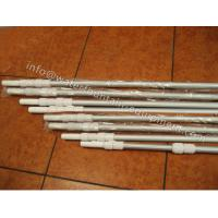 Quality Corrugated Surface Swimming Pool Accessories Telescopic Pole 0.8mm Thick 2 X 240cm for sale