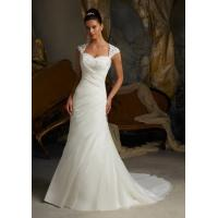 Quality NEW!! Aline wedding dress cape sleeves Zip back Bridal gown #whiteivory for sale