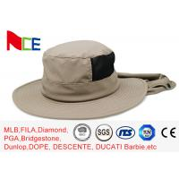 Quality Joint Khaki Fishman Bucket Hat Protect neck from sunburn With Adjustable for sale