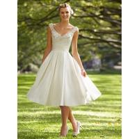 Quality Short Low back wedding dress Bridal gown#dq4586 for sale