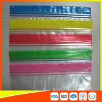 Quality Transparent Plastic Packing Ziplock Bags Antistatic with Zipper Top Blue Lip for sale