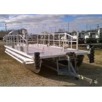 China 7.6m X 2.9m Aluminum Pontoon Boat Simple Custom Kit Floating With Plate Decking on sale