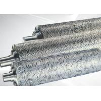 Quality Chrome Plate Knurling Leather Embossing Roller Surface Roughness Rao.01 for sale