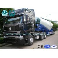 High Efficiency Tri-axle V Shape Cement Bulker Trailer With Mechanical Suspension