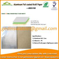 Quality Widely use Aluminum foil coated kraft paper reflective insulation for roof for sale